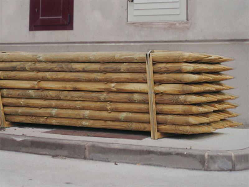 Estacas de madera cercados velasco - Madera de pino tratada ...